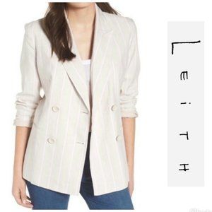 Leith Double Breasted Beige Blazer Small